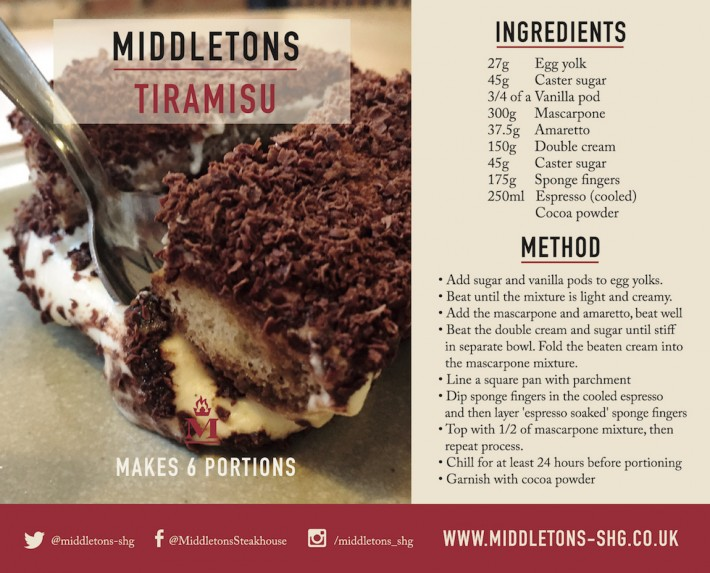recipe card tiramisu Middletons