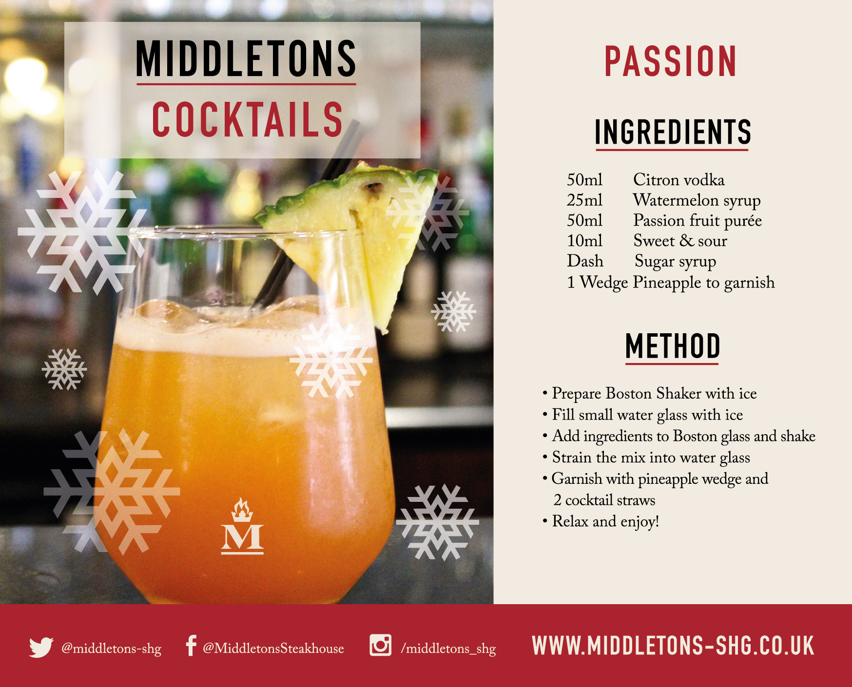 Passion Recipe Middletons