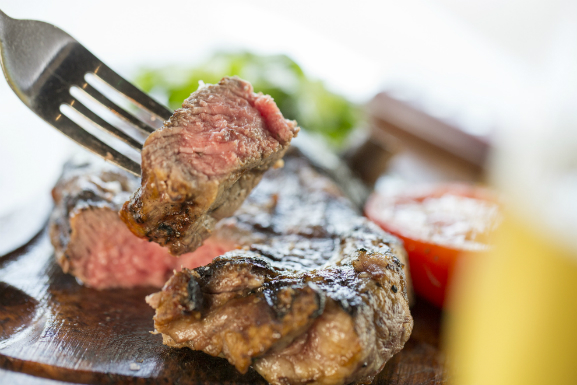 cook steak med well touch guide