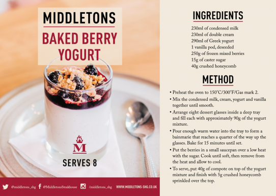 Baked Berry Yogurt recipe